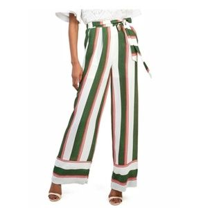Gracia Striped High Waist Trousers - size S